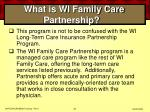 what is wi family care partnership