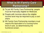 what is wi family care partnership50