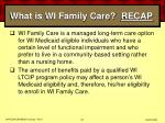 what is wi family care recap44