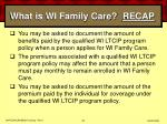 what is wi family care recap45