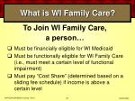what is wi family care36