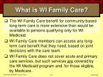 what is wi family care39