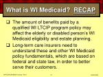 what is wi medicaid recap31