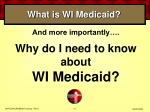 what is wi medicaid
