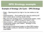 opg strategy example