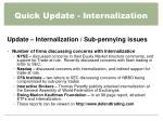 quick update internalization