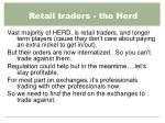 retail traders the herd