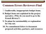 common errors reviewers find23