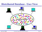 distributed database user view