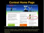 contest home page
