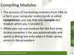 compiling modules