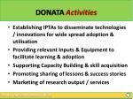 donata activities