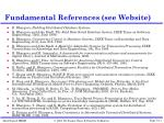 fundamental references see website