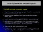 some stylised facts and assumptions10