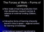the forces at work forms of learning