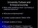 university culture and entrepreneurship