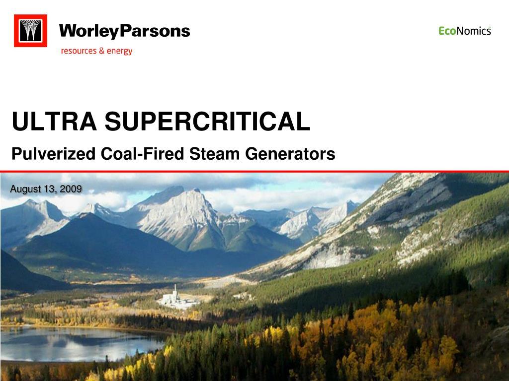 ULTRA SUPERCRITICAL