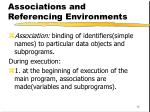 associations and referencing environments