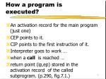 how a program is executed