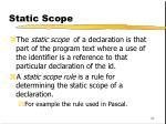 static scope