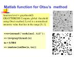 matlab function for otsu s method