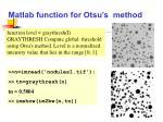 matlab function for otsu s method