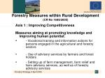 forestry measures within rural development cr no 1698 2005