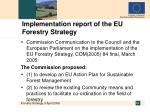 implementation report of the eu forestry strategy