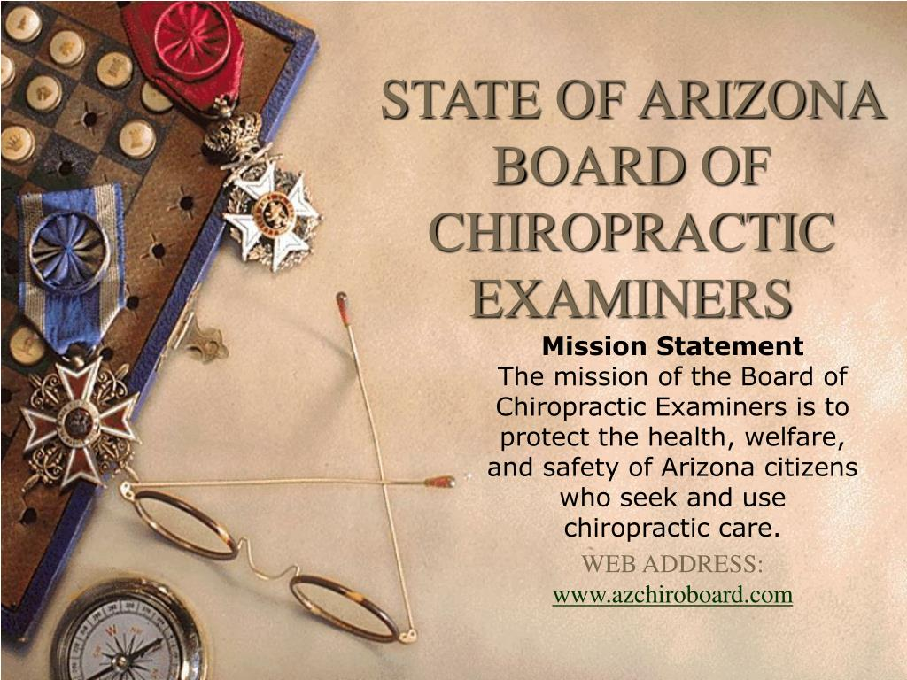 state of arizona board of chiropractic examiners l.