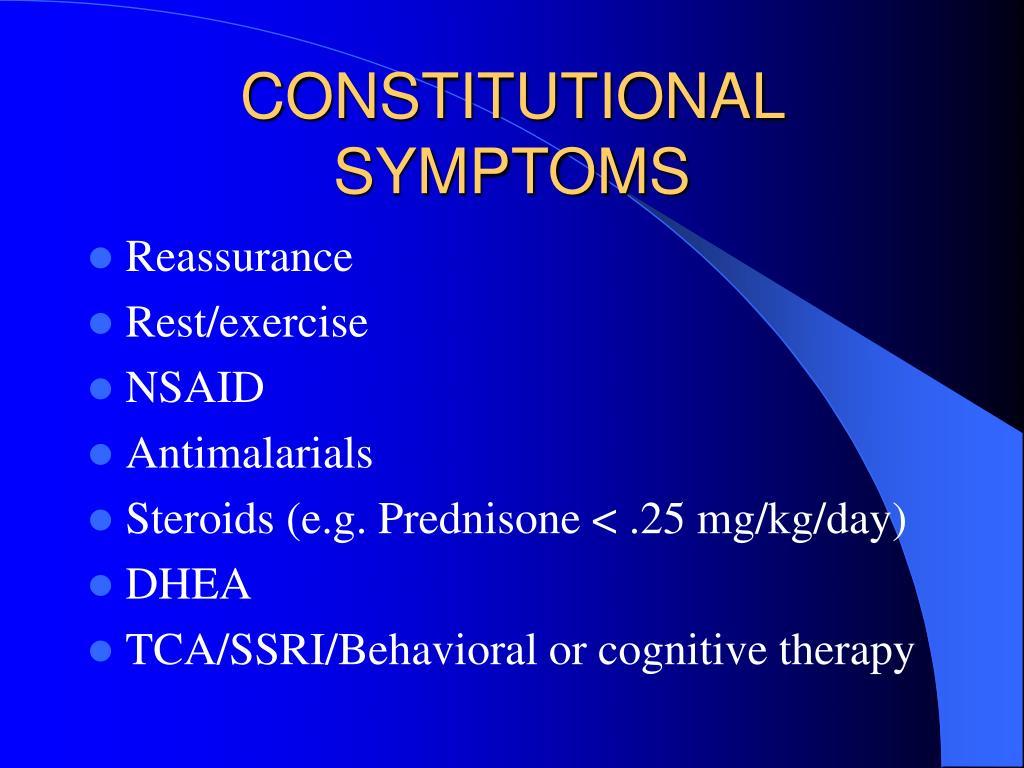 constitutional symptoms l.
