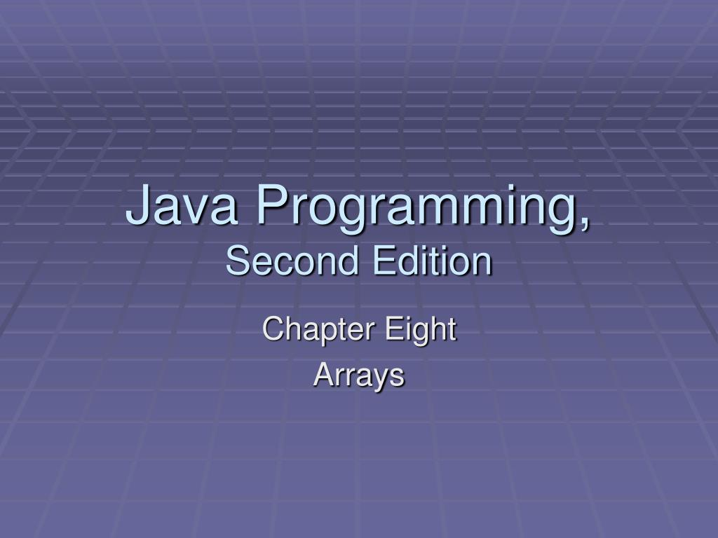 java programming second edition l.