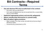 ba contracts required terms