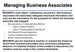 managing business associates
