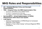mhs roles and responsibilities