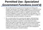 permitted use specialized government functions cont d20