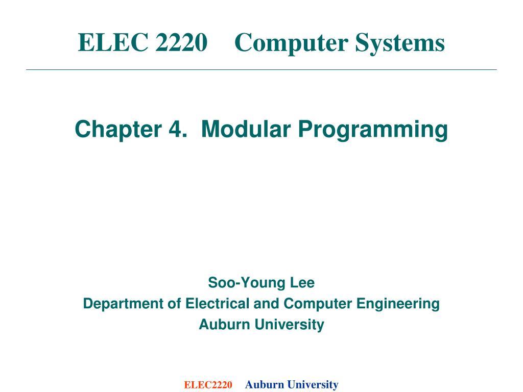 elec 2220 computer systems l.