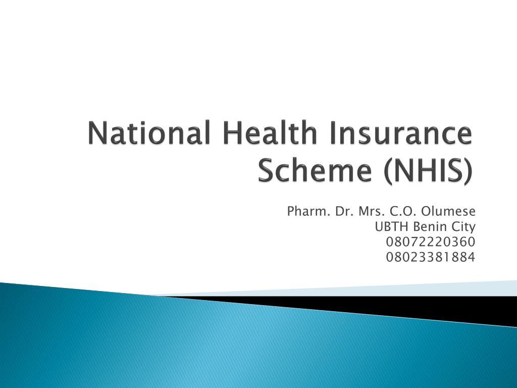 national health insurance scheme nhis l.