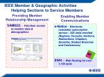 ieee member geographic activities helping sections to service members