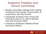 academic freedom and tenure committee