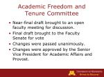 academic freedom and tenure committee10