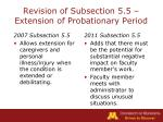 revision of subsection 5 5 extension of probationary period17
