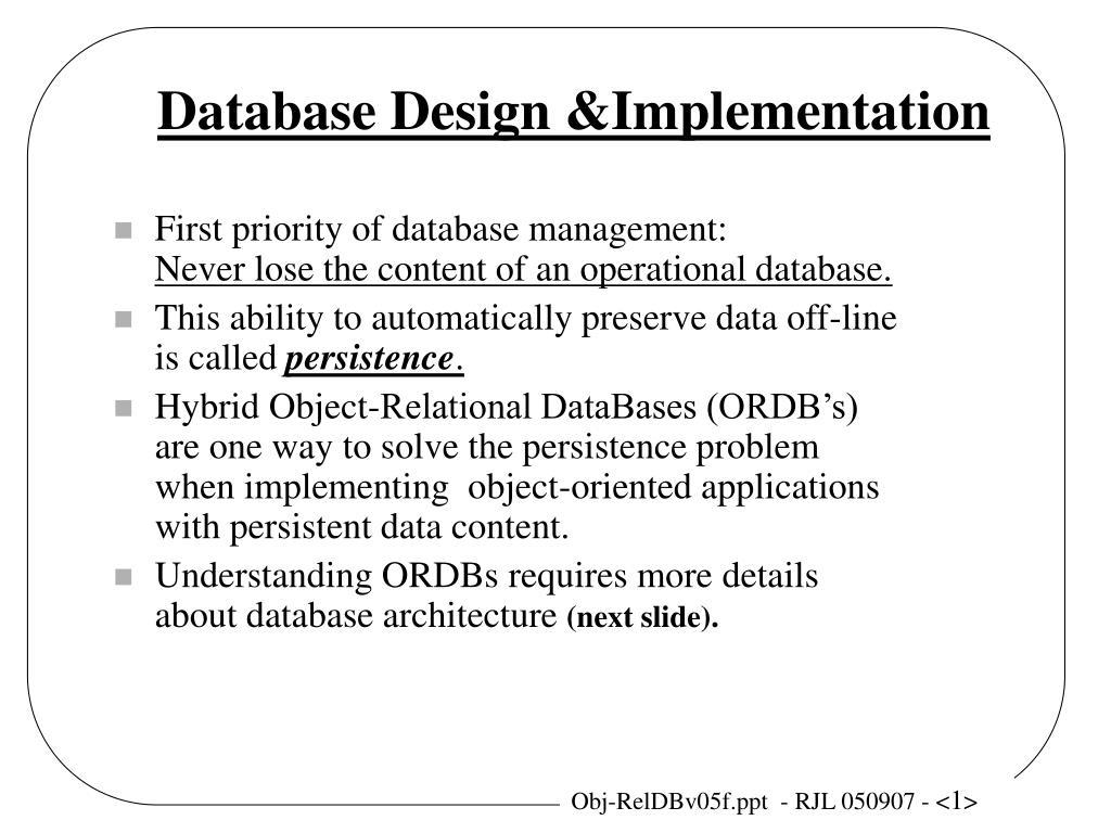 database design implementation l.