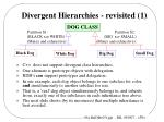 divergent hierarchies revisited 1