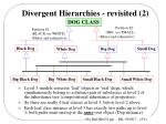 divergent hierarchies revisited 2