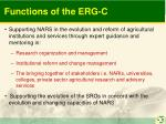 functions of the erg c