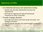 objectives of erg