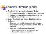 complex stimulus cont