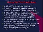 derrig top five fraud ideas