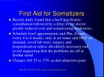 first aid for somatizers