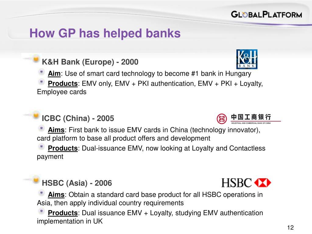 How GP has helped banks